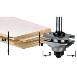 Festool Frez profilowy do wypustów HW z trzpieniem 8 mm HW S8 D46 x D12-FD