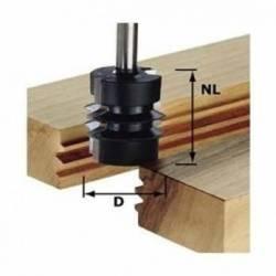 Festool Frez do materiałów klejonych HW z trzpieniem 8 mm HW S8 D34/NL32