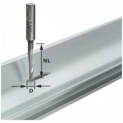 Festool Frez do aluminium HS z trzpieniem 8 mm HS S8 D5/NL23