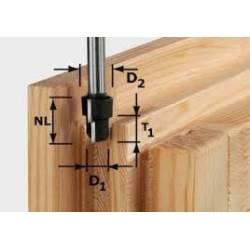 Festool Frez stopniowany HW z trzpieniem 12 mm HW D163/123/93 S12
