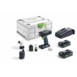 Festool Akumulatorowa wiertarko-wkrętarka T 18+3 HPC 4,0 I-Set