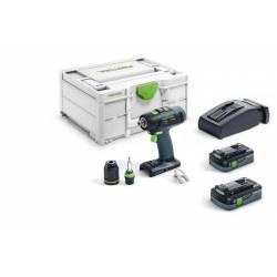 Festool Akumulatorowa wiertarko-wkrętarka T 18+3 HPC 4,0 I-Plus