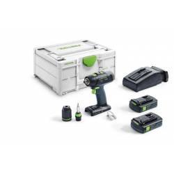 Festool Akumulatorowa wiertarko-wkrętarka T 18+3 C 3,1-Plus