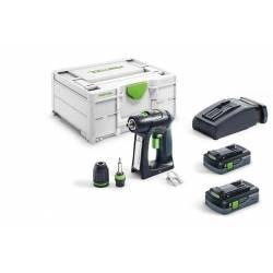 Festool Akumulatorowa wiertarko-wkrętarka C 18 HPC 4,0 I-Plus