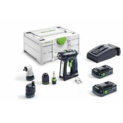 Festool Akumulatorowa wiertarko-wkrętarka C 18 HPC 4,0 I-Set
