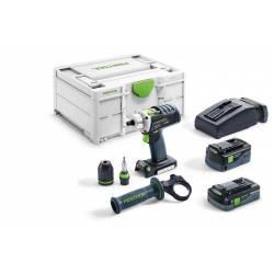 Festool Akumulatorowa wiertarko-wkrętarka DRC 18/4 5,2/4,0 I-Plus QUADRIVE