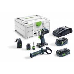 Festool Akumulatorowa wiertarko-wkrętarka DRC 18/4 5,2/4,0 I-Set-SCA QUADRIVE